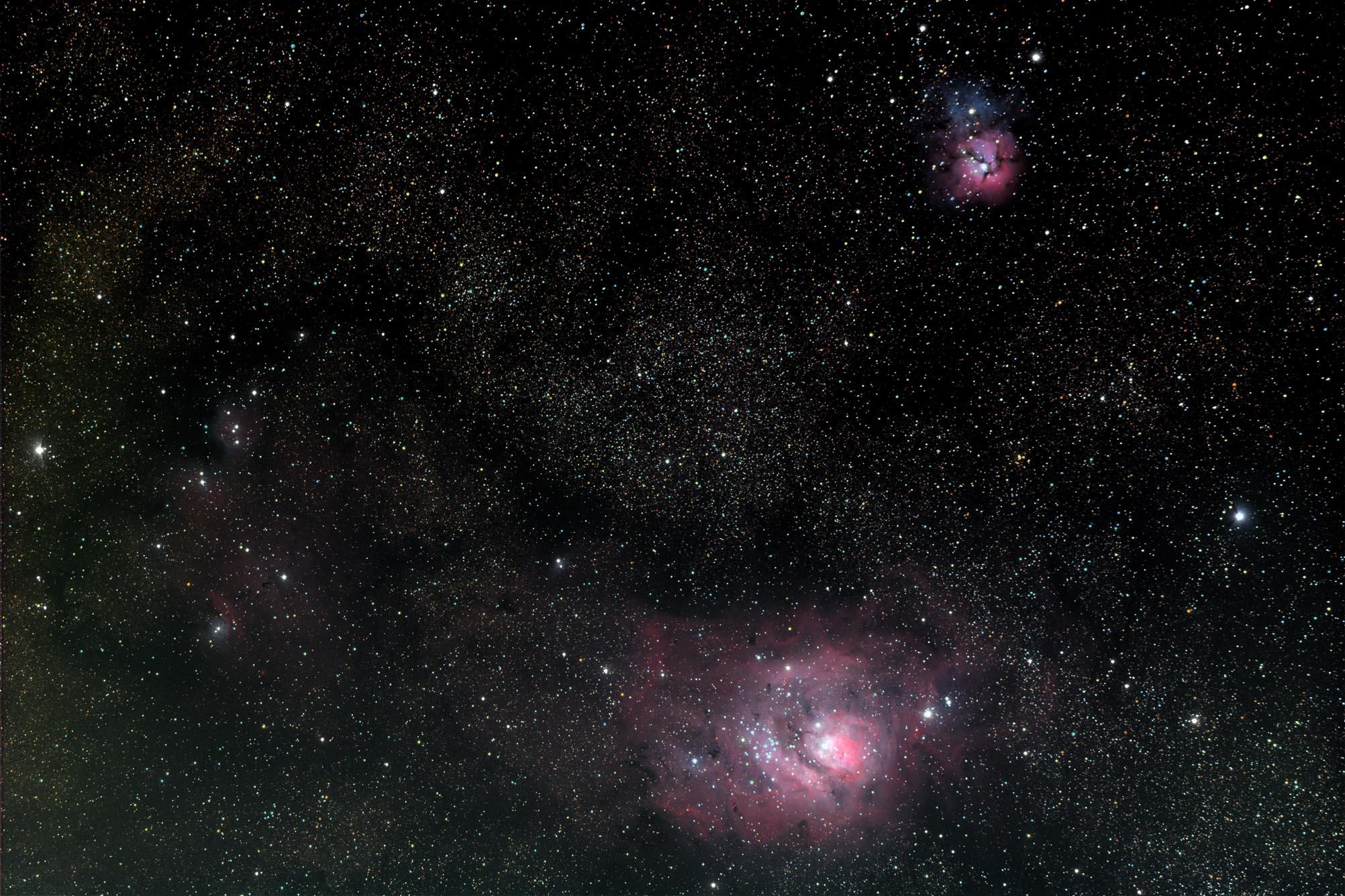 trifid and lagoon nebula - photo #45